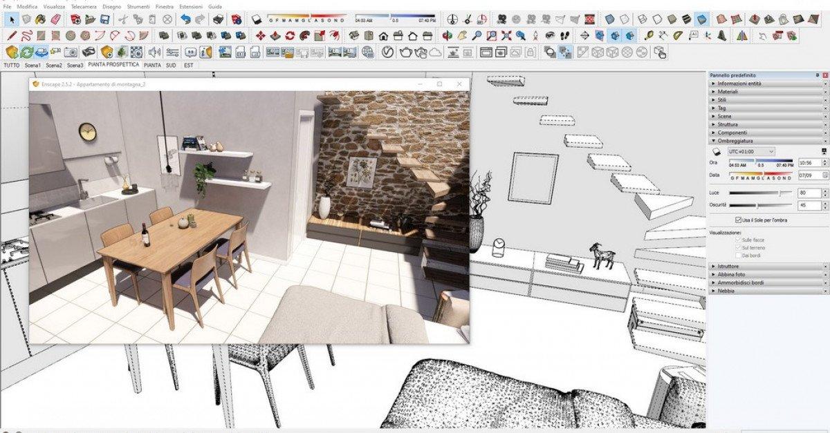 Progetto di ristrutturazione di appartamento di montagna